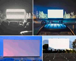 Apensar pantallas cine carro