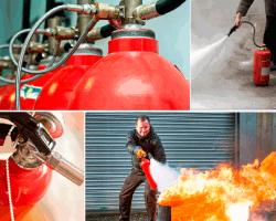 Apensar apagando fuegos extintores