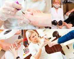 Apensar pintando uñas del pie
