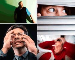 Apensar hombre asustado